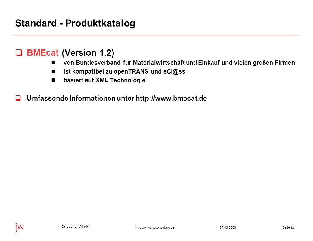 Standard - Produktkatalog