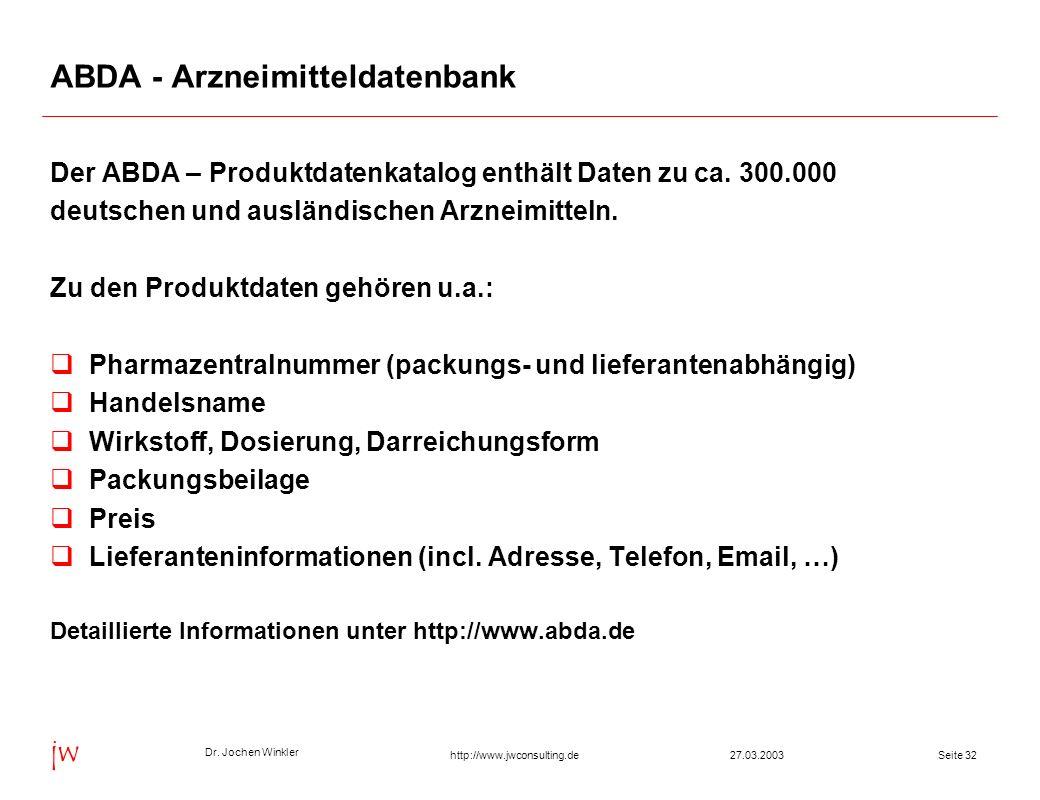ABDA - Arzneimitteldatenbank