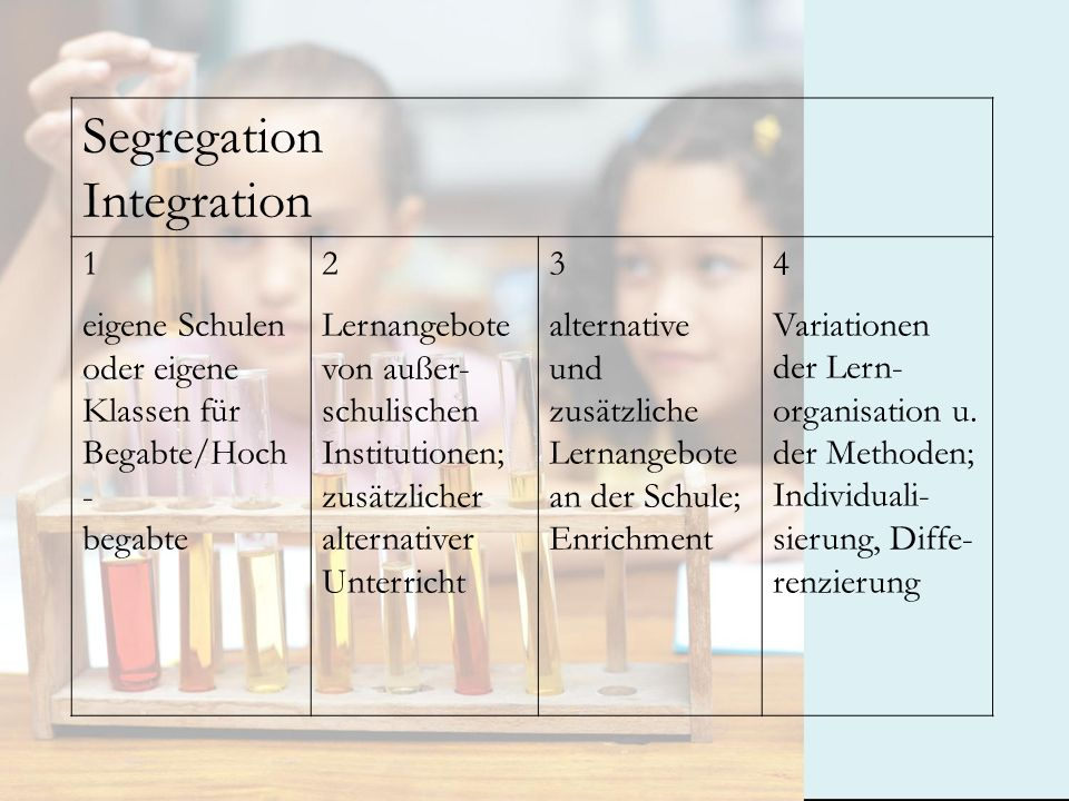 Segregation Integration