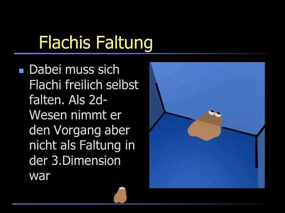 Flachis FaltungDabei muss sich Flachi freilich selbst falten.