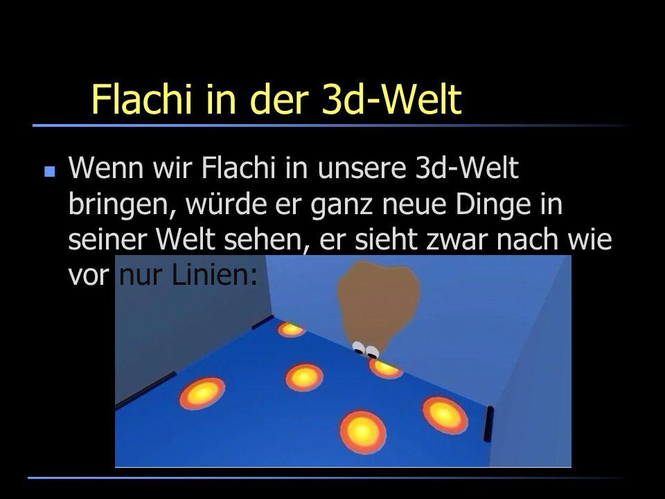 Flachi in der 3d-Welt