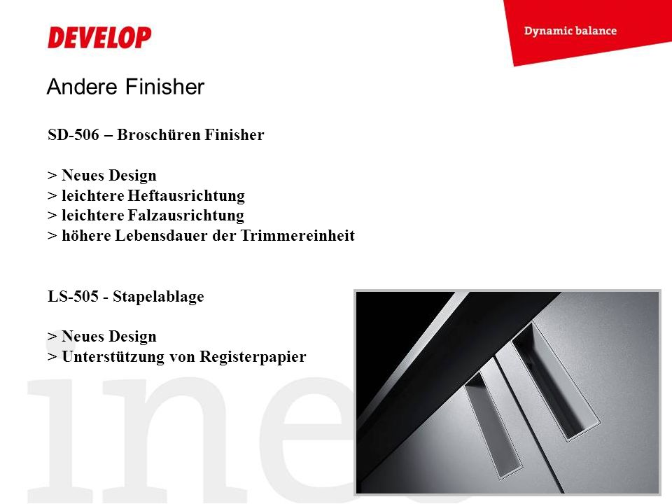 Andere Finisher SD-506 – Broschüren Finisher > Neues Design