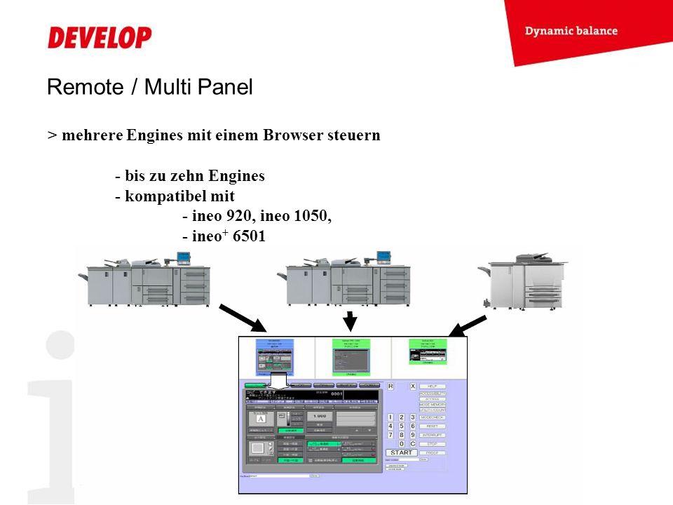 Remote / Multi Panel > mehrere Engines mit einem Browser steuern