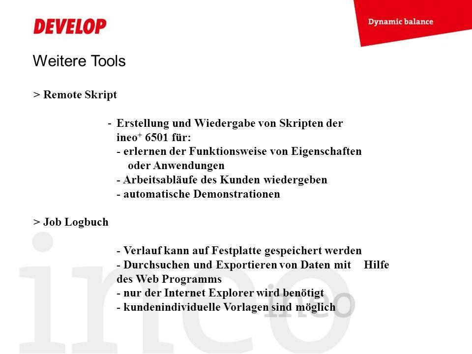 Weitere Tools > Remote Skript