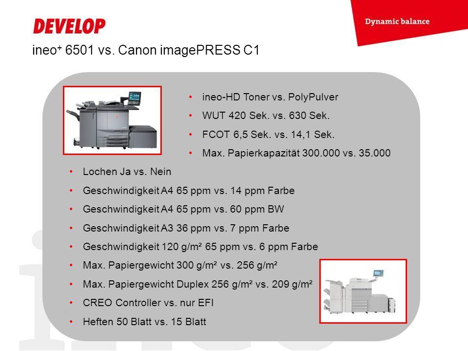 ineo+ 6501 vs. Canon imagePRESS C1