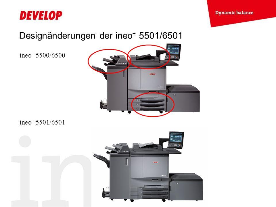 Designänderungen der ineo+ 5501/6501