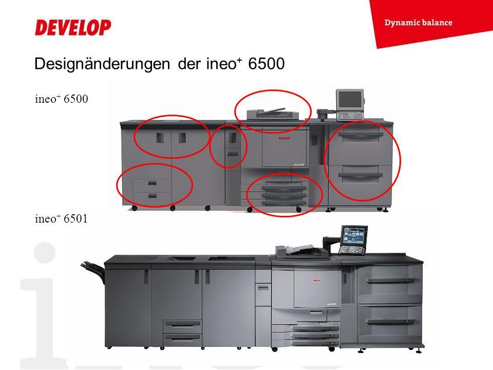 Designänderungen der ineo+ 6500