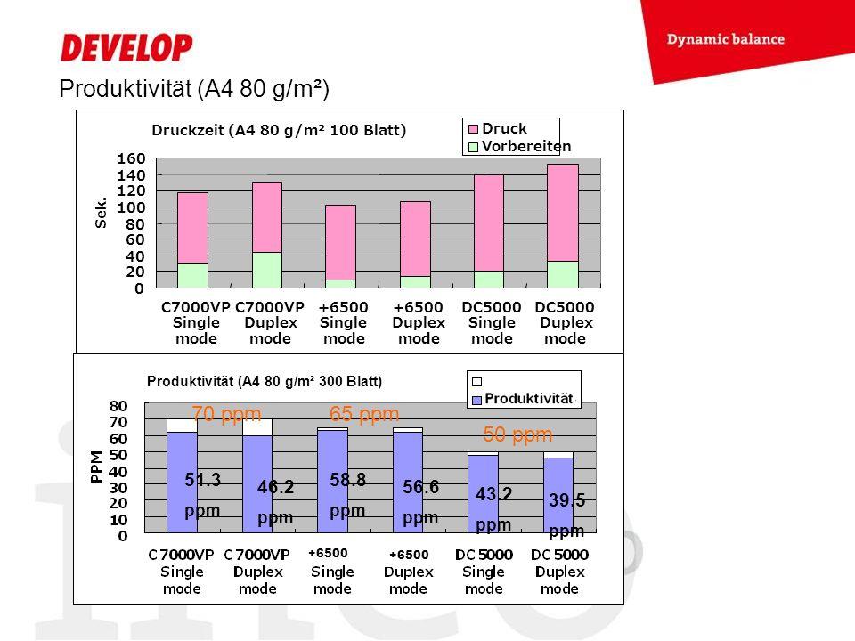 Produktivität (A4 80 g/m²)