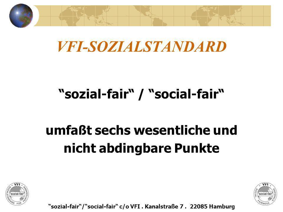 VFI-SOZIALSTANDARD sozial-fair / social-fair