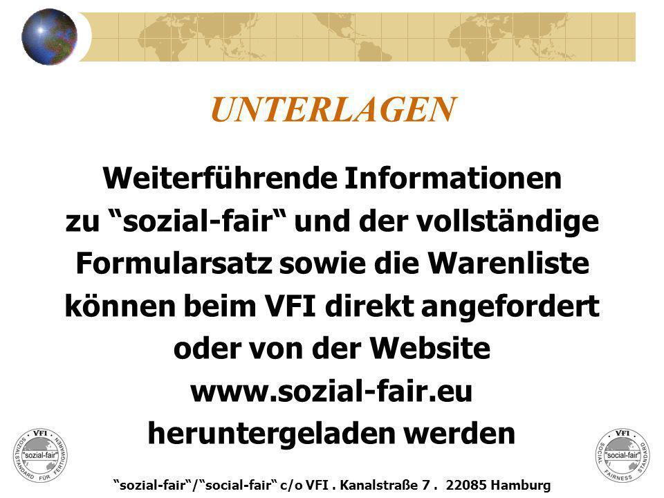 UNTERLAGEN Weiterführende Informationen