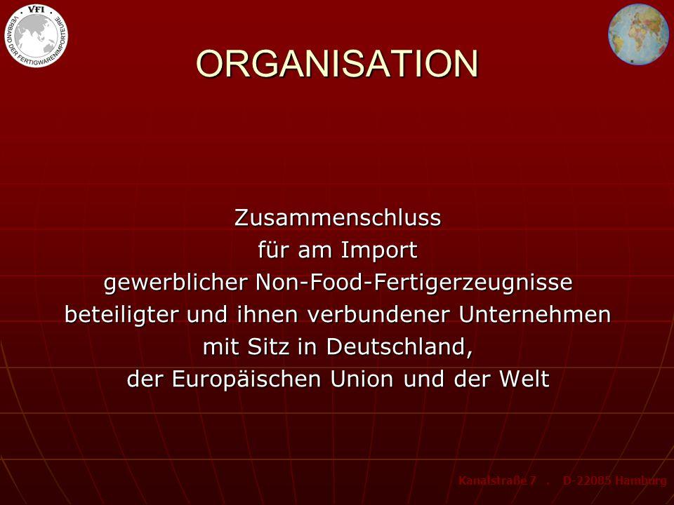 ORGANISATION Zusammenschluss für am Import