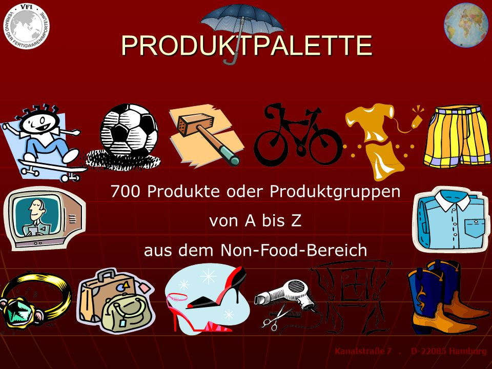 PRODUKTPALETTE 700 Produkte oder Produktgruppen von A bis Z