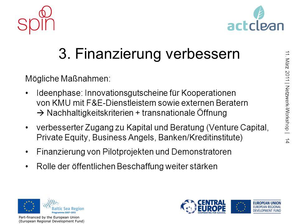 3. Finanzierung verbessern