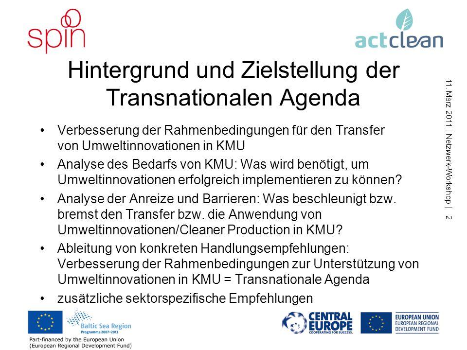 Hintergrund und Zielstellung der Transnationalen Agenda