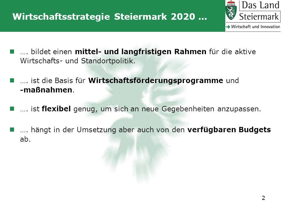 Wirtschaftsstrategie Steiermark 2020 …