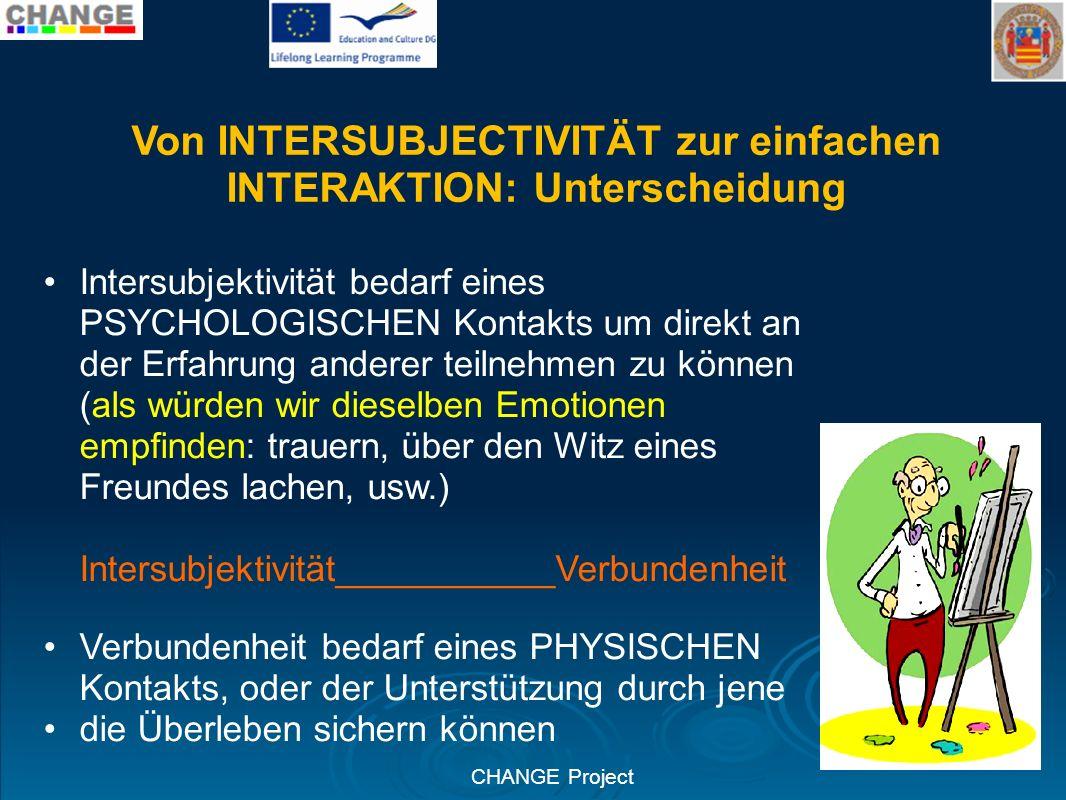 Von INTERSUBJECTIVITÄT zur einfachen INTERAKTION: Unterscheidung