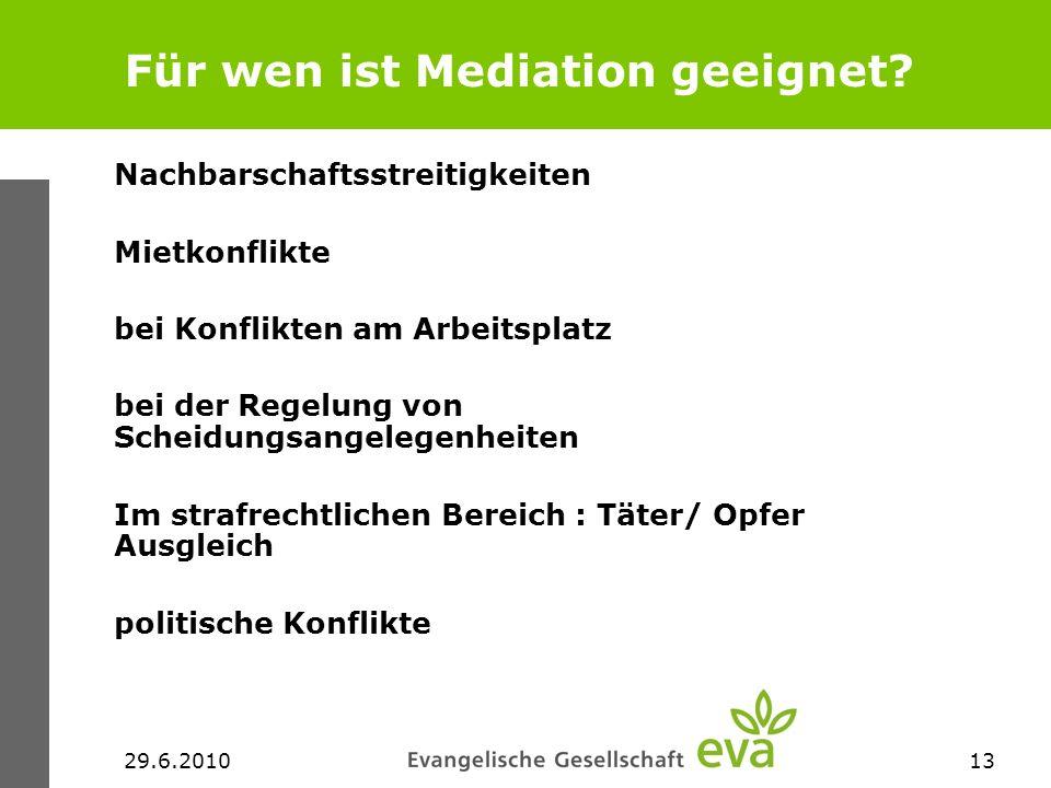 Für wen ist Mediation geeignet