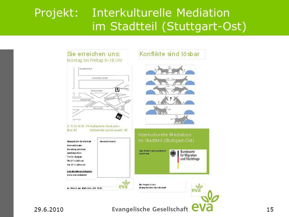 Projekt: Interkulturelle Mediation im Stadtteil (Stuttgart-Ost)