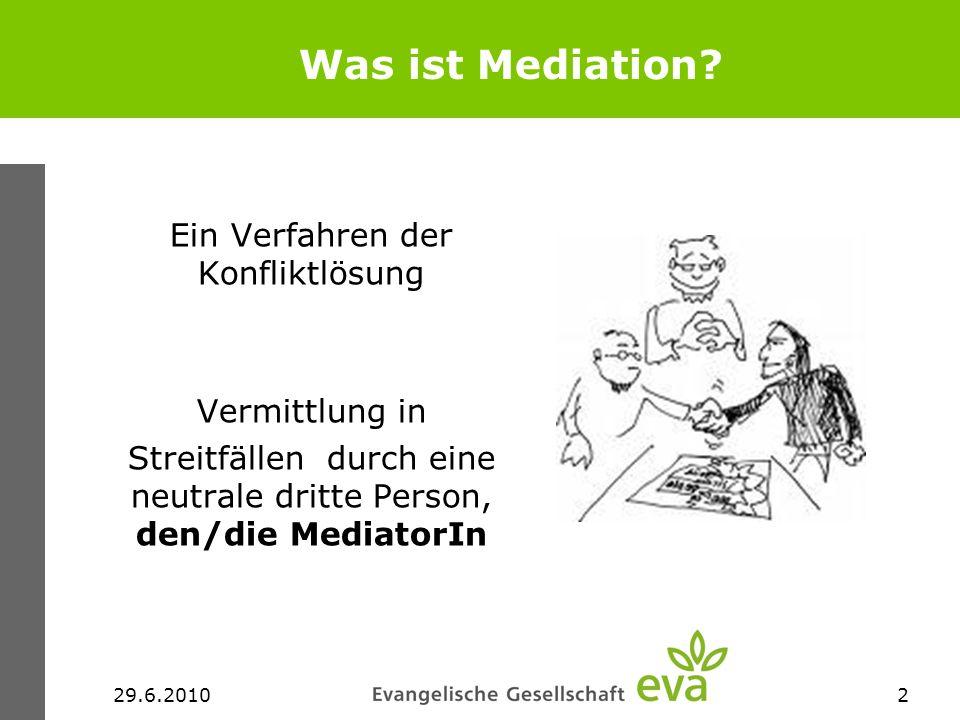 Was ist Mediation Ein Verfahren der Konfliktlösung Vermittlung in