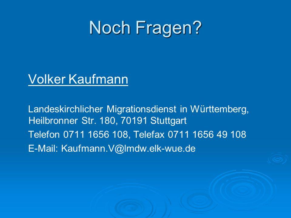 Noch Fragen Volker Kaufmann