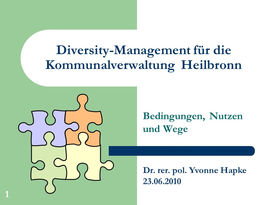 Diversity-Management für die Kommunalverwaltung Heilbronn