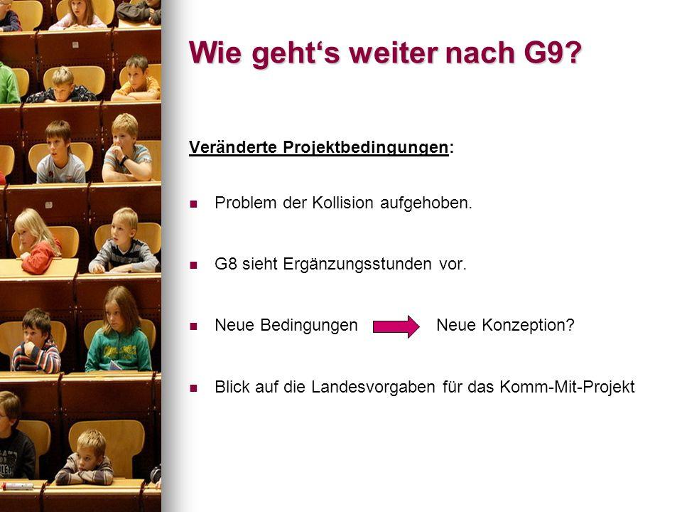 Wie geht's weiter nach G9