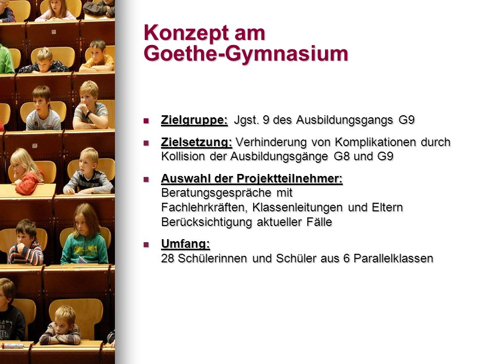 Konzept am Goethe-Gymnasium