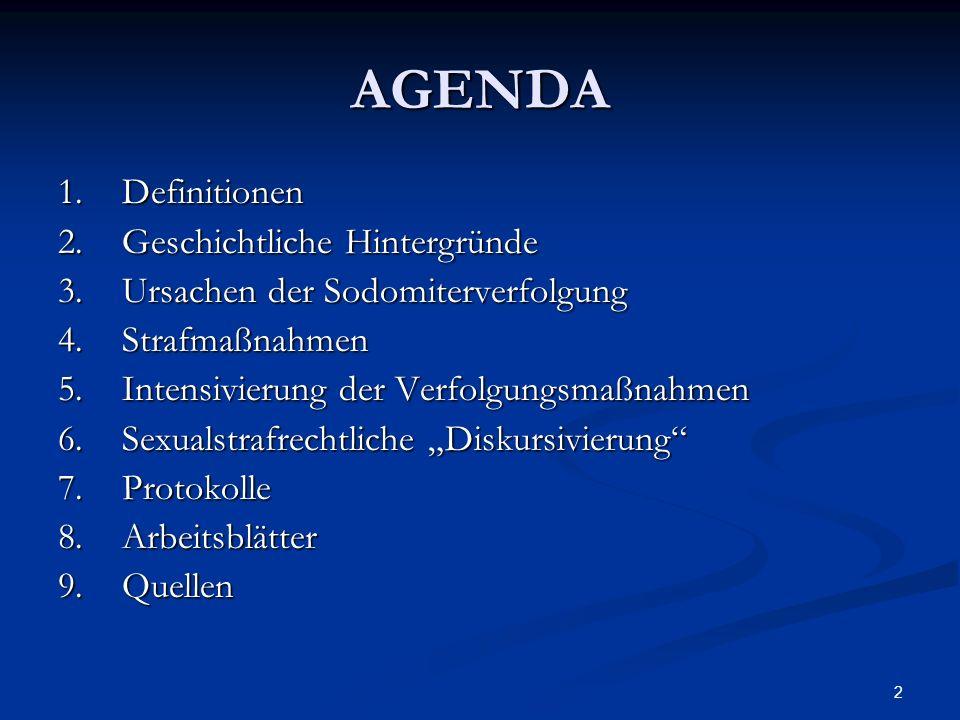 AGENDA 1. Definitionen 2. Geschichtliche Hintergründe