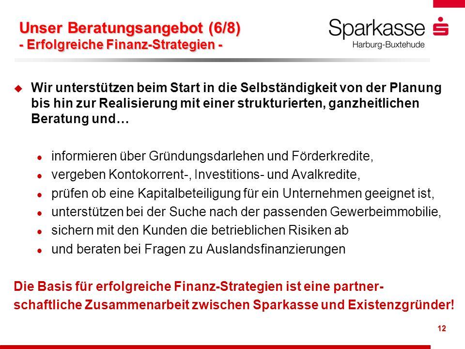 Unser Beratungsangebot (6/8) - Erfolgreiche Finanz-Strategien -