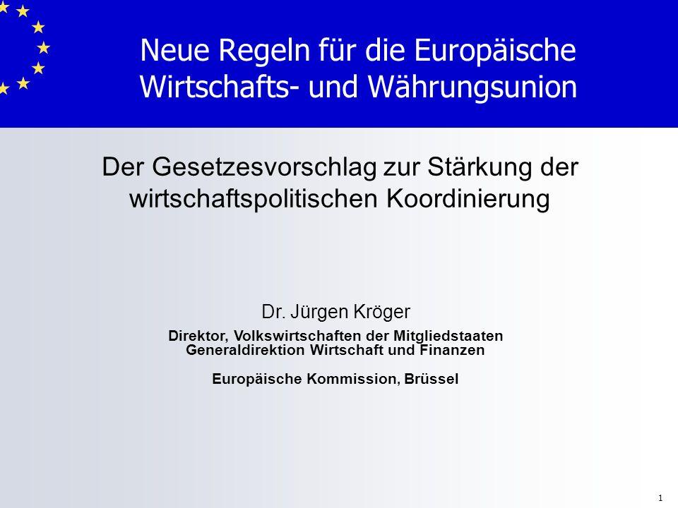 Neue Regeln für die Europäische Wirtschafts- und Währungsunion