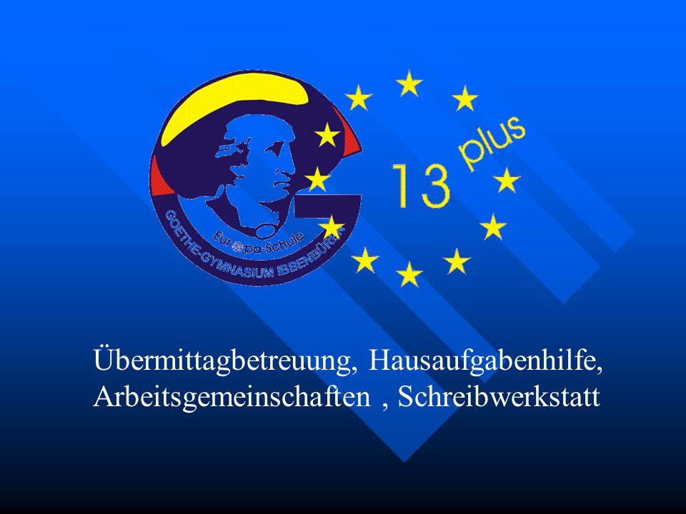 """""""13 Pus Übermittagbetreuung, Hausaufgabenhilfe, Arbeitsgemeinschaften , Schreibwerkstatt"""