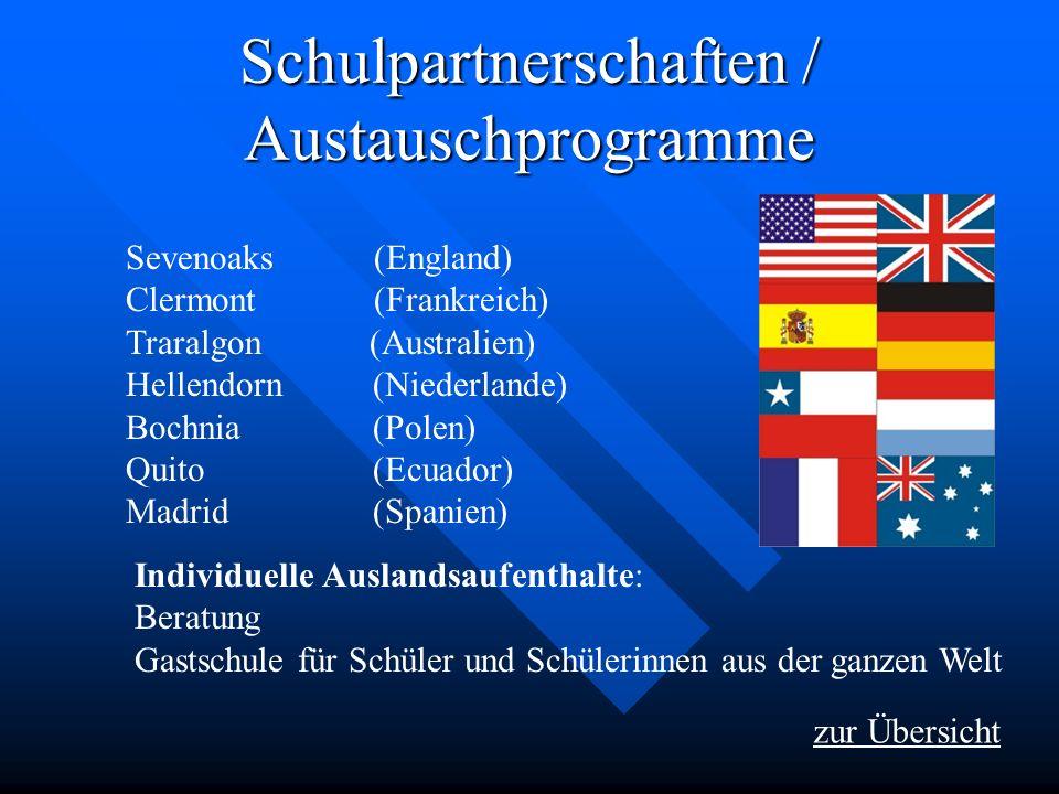 Schulpartnerschaften / Austauschprogramme