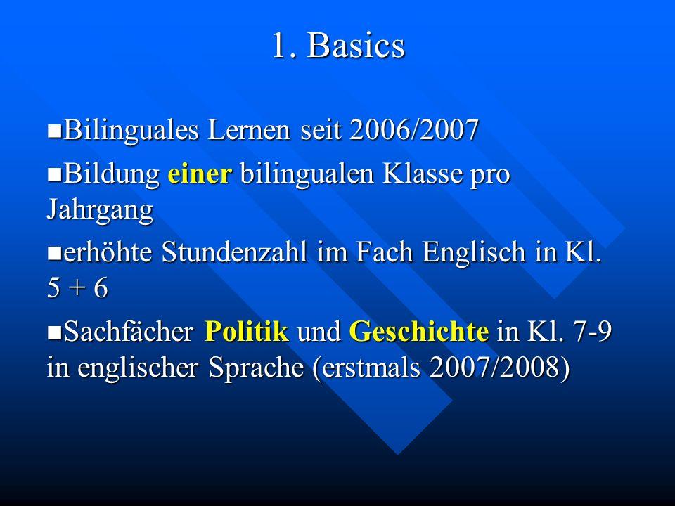 1. Basics Bilinguales Lernen seit 2006/2007