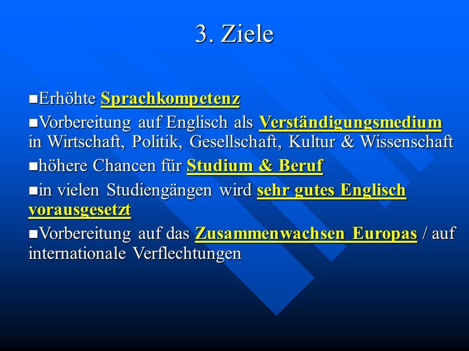 3. Ziele Erhöhte Sprachkompetenz