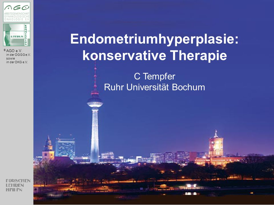 Endometriumhyperplasie: konservative Therapie