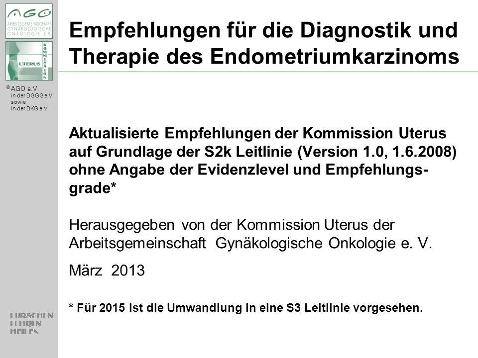 Empfehlungen für die Diagnostik und Therapie des Endometriumkarzinoms
