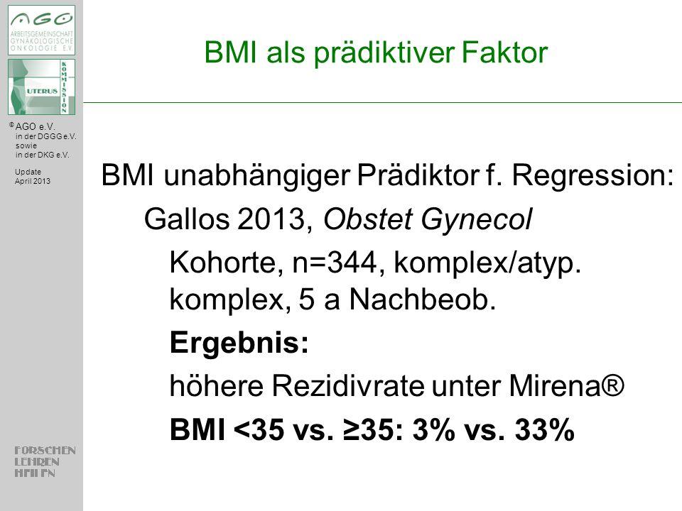 BMI als prädiktiver Faktor