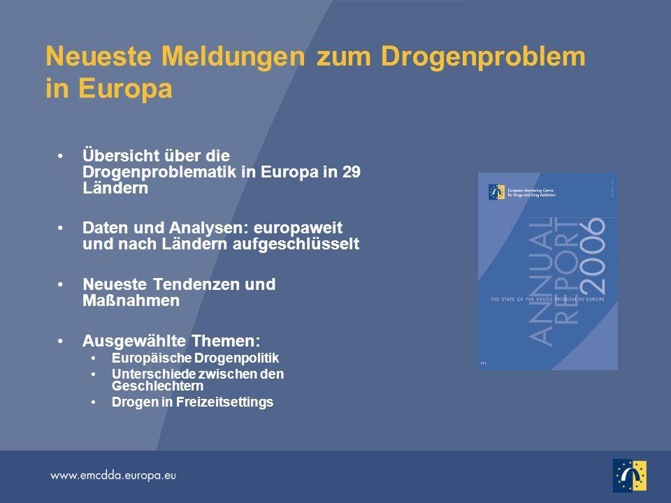 Neueste Meldungen zum Drogenproblem in Europa