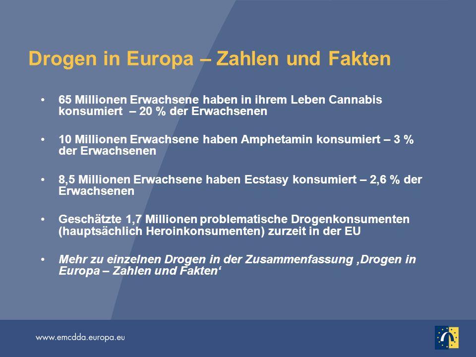 Drogen in Europa – Zahlen und Fakten
