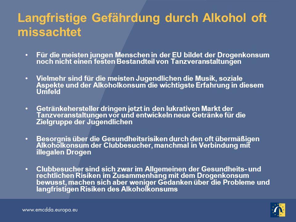 Langfristige Gefährdung durch Alkohol oft missachtet