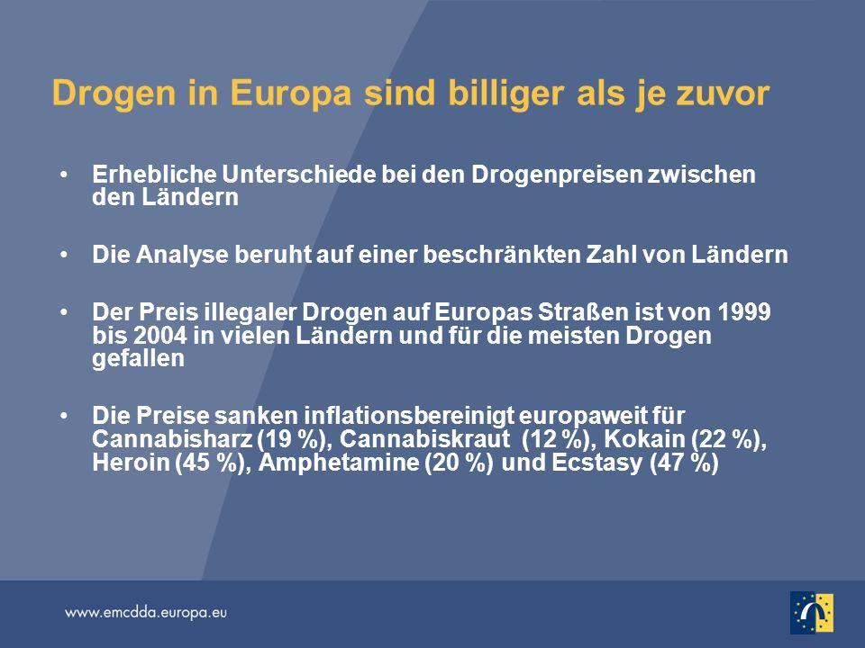 Drogen in Europa sind billiger als je zuvor