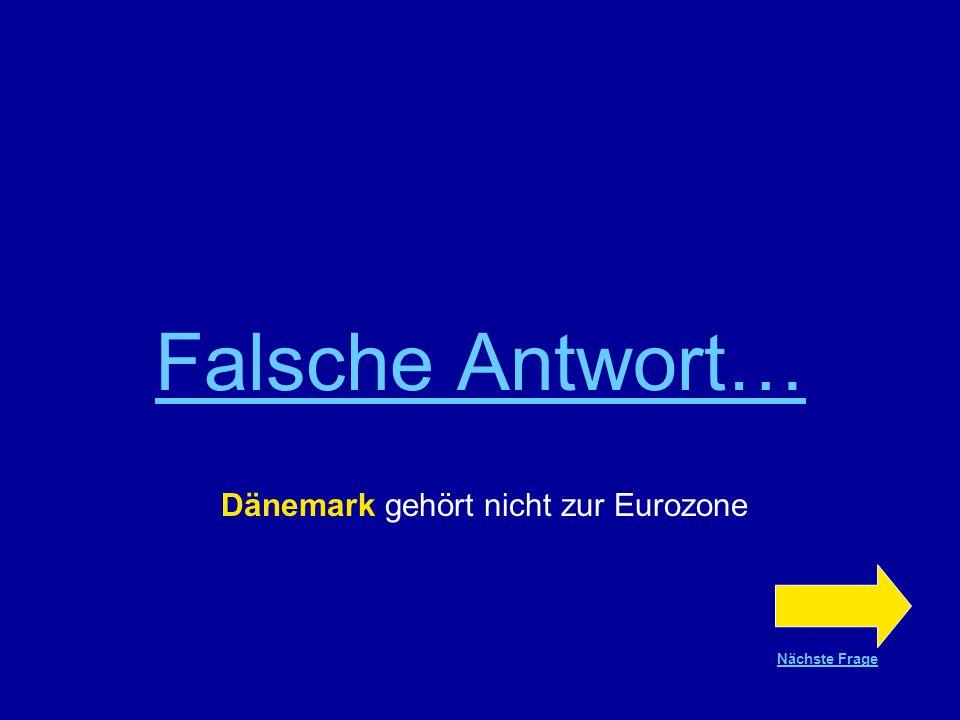 Dänemark gehört nicht zur Eurozone