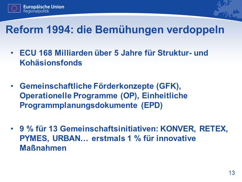 Reform 1994: die Bemühungen verdoppeln