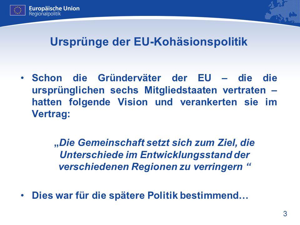 Ursprünge der EU-Kohäsionspolitik