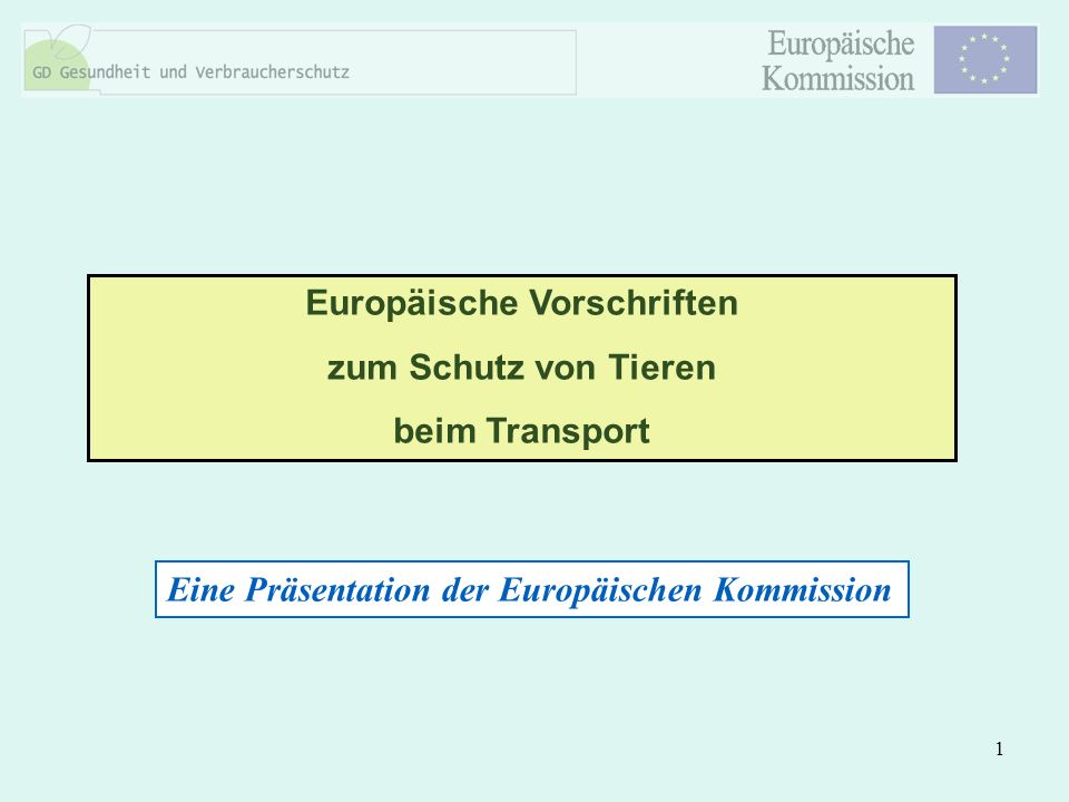 Europäische Vorschriften