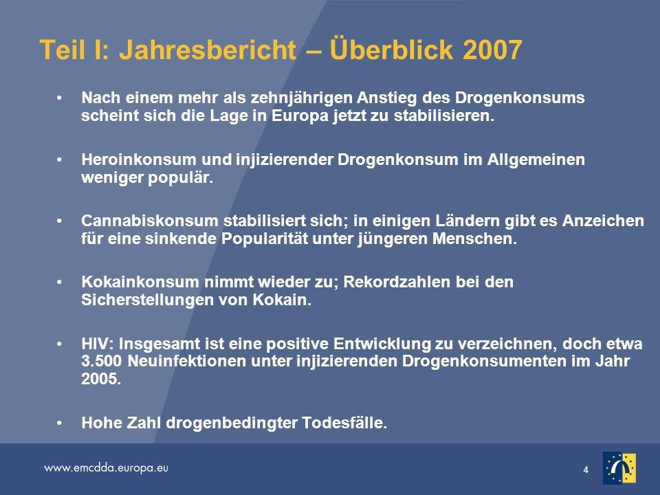 Teil I: Jahresbericht – Überblick 2007