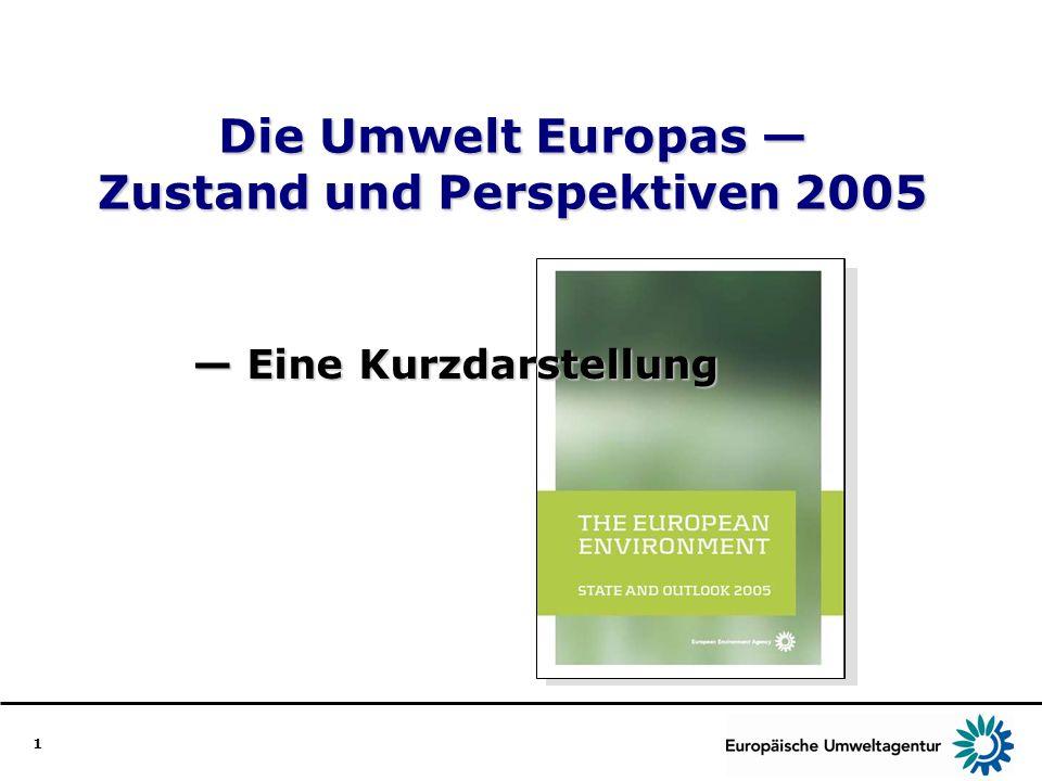 Die Umwelt Europas — Zustand und Perspektiven 2005