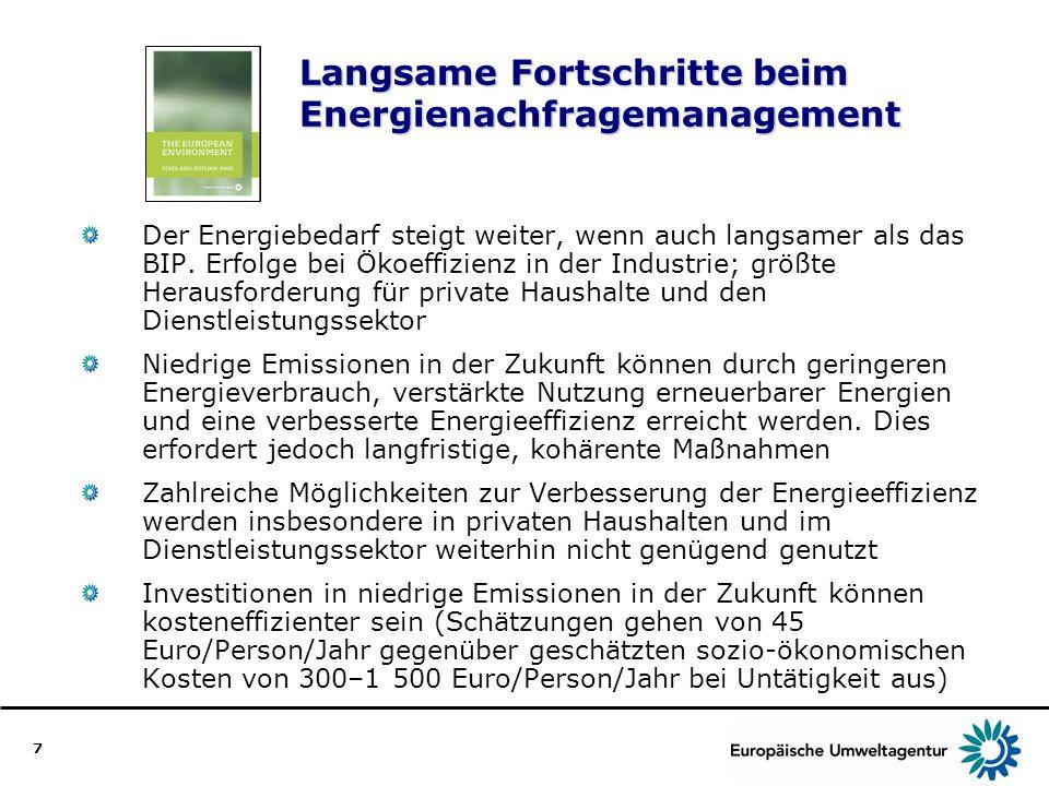 Langsame Fortschritte beim Energienachfragemanagement