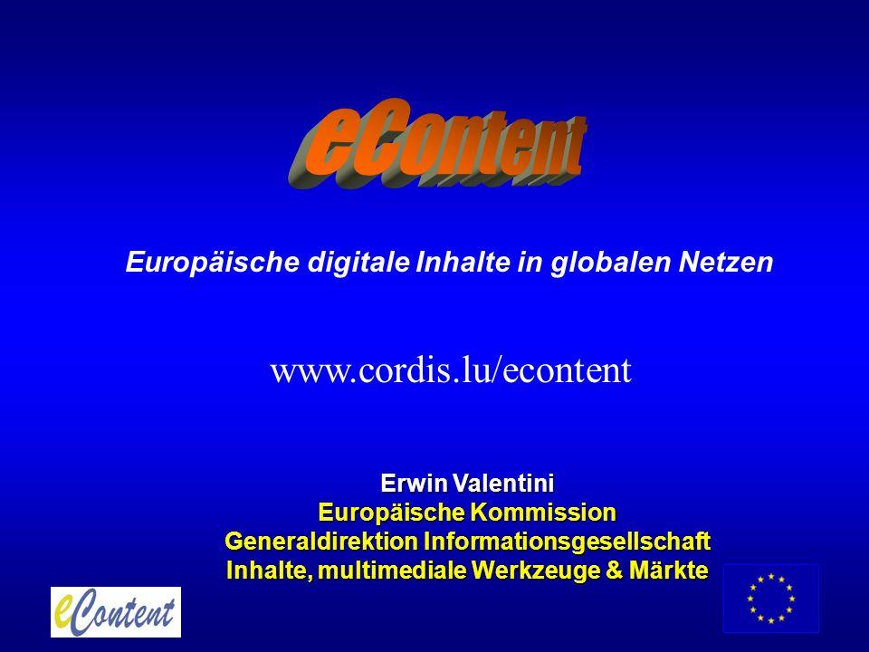 eContent www.cordis.lu/econtent