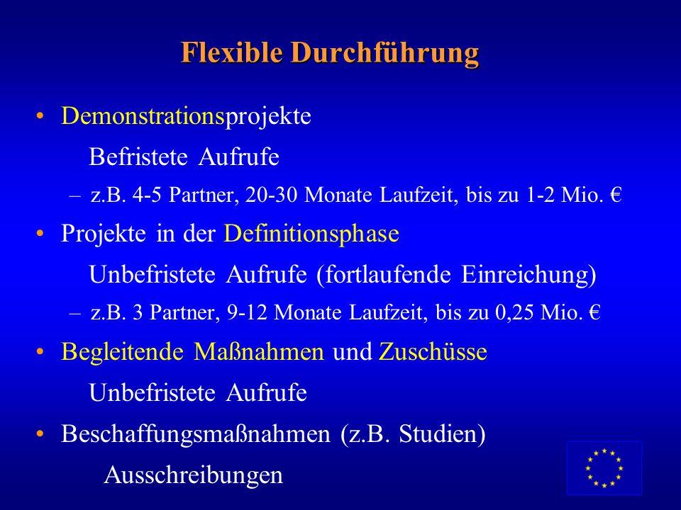 Flexible Durchführung
